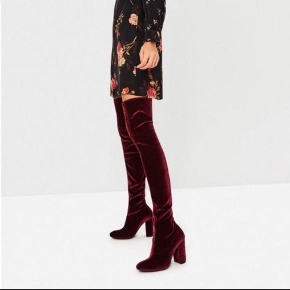 2800564885a0 Zara Velvet Over the Knee Boots. M 5ab2f02872ea884c85318417